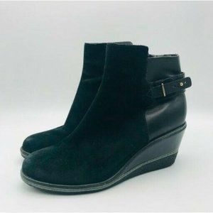 Cole Haan NikeAir Boot Leather Rayna Wedge Shoe